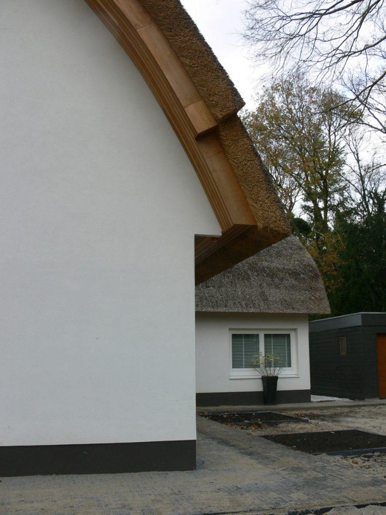 rieten dak, detail